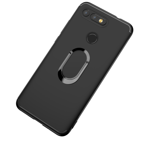 Shockproof TPU Full Protective Case for Huawei Honor View 20, with 360 Degree Rotation Holder (Black)