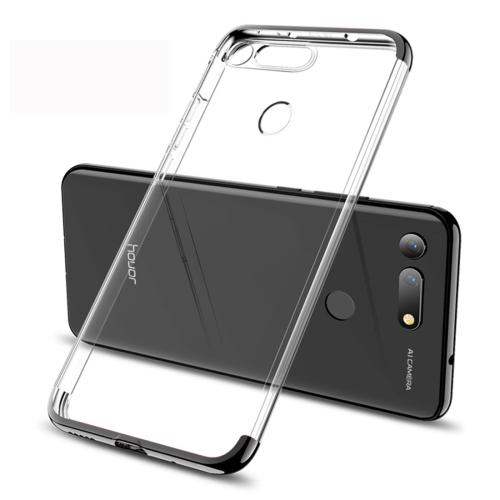 GKK Electroplating Transparent Case for Huawei Honor View 20 (Black)
