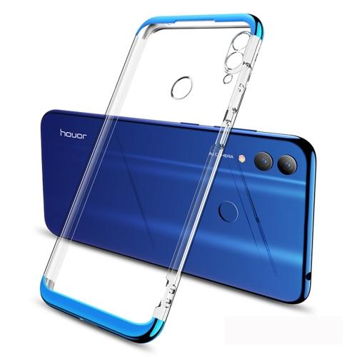 GKK Electroplating Transparent Case for Huawei Honor 8C (Blue)