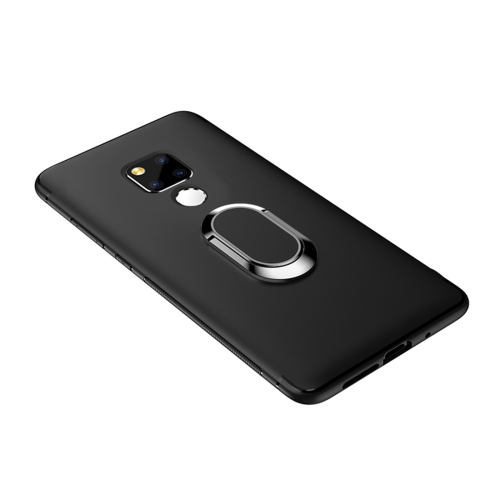 Shockproof TPU Full Protective Case for Huawei Mate 20 X, with 360 Degree Rotation Holder (Black)