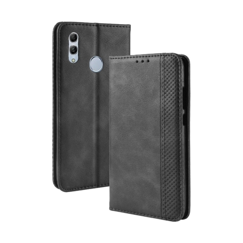 Magnetic Buckle Retro Texture Horizontal Flip Leather Case for Huawei Honor 10 Lite / P Smart (2019) / Nova Lite 3, with Holder & Card Slots & Wallet (Black)