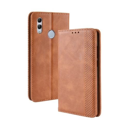 Magnetic Buckle Retro Texture Horizontal Flip Leather Case for Huawei Honor 10 Lite / P Smart (2019) / Nova Lite 3, with Holder & Card Slots & Wallet (Brown)