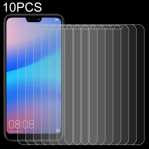 10 PCS for Huawei P20 Lite 0.26mm 9H Surface Hardness 2.5D Explosion-proof Tempered Glass Screen Film
