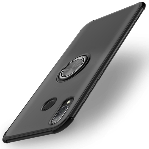 Shockproof TPU Protective Case for Huawei Honor Play, with Holder (Black)