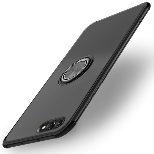 Shockproof TPU Protective Case for Huawei Honor View 10, with Holder (Black)
