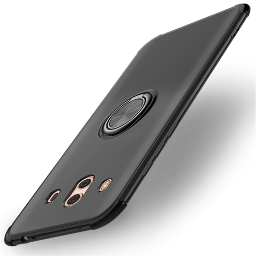 Shockproof TPU Protective Case for Huawei Mate 10, with Holder (Black)