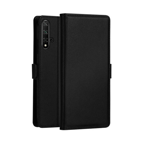DZGOGO MILO Series PC + PU Horizontal Flip Leather Case for Huawei Honor 20, with Holder & Card Slot & Wallet (Black)