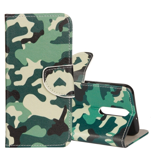Buy Huawei Mate 10 Lite Camouflage Pattern Horizontal Flip Leather Case with Holder & Card Slots & Wallet for $2.43 in SUNSKY store