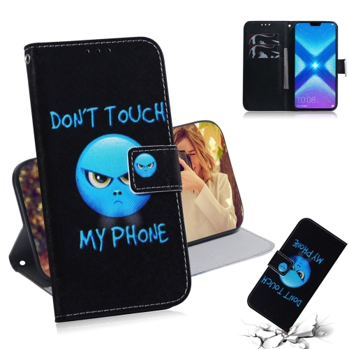 Anger Pattern Coloured Drawing Horizontal Flip Leather Case for Huawei Honor 8X, with Holder & Card Slots & Wallet
