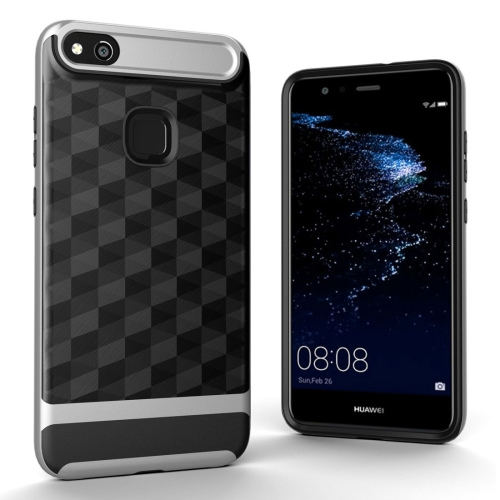 Buy Huawei P10 Lite 3D Diamond TPU+PC Protective Combination Case, Silver for $2.00 in SUNSKY store