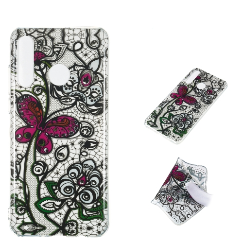 Pansy Pattern Highly Transparent TPU Protective Case for Huawei P30 Lite