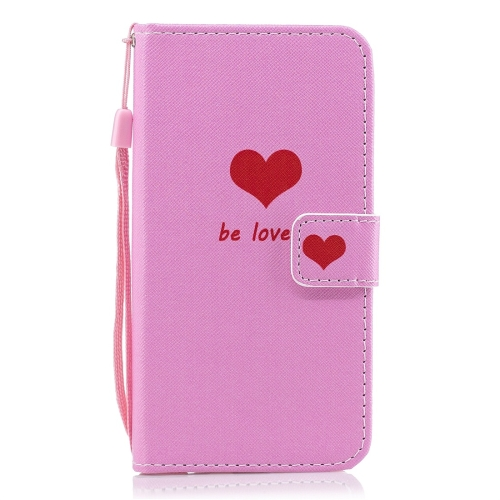 Heart Pattern Horizontal Flip Leather Case for Huawei Y7 (2019), with Holder & Card Slots & Wallet