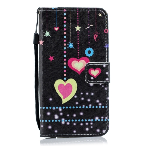 Colorful Heart Pattern Horizontal Flip Leather Case for Huawei Honor Play 8A, with Holder & Card Slots & Wallet
