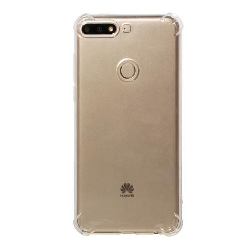 Shockproof TPU Protective Case for Huawei Honor 7C / Enjoy 8 / Nova 2 Lite / Y7 Prime (2018) / Y7 (2018) (Transparent)