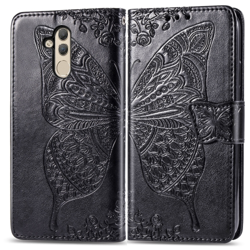 Butterfly Love Flowers Embossing Horizontal Flip Leather Case for  Huawei Mate 20 Lite  with Holder & Card Slots & Wallet(Black)