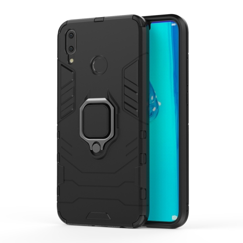 Shockproof PC + TPU Case with Magnetic Ring Holder for Huawei Y9 (2019) / Enjoy 9 Plus(Black) фото