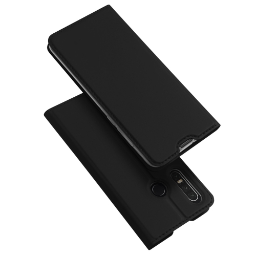DUX DUCIS Skin Pro Series Horizontal Flip PU + TPU Leather Case for Huawei P30 Lite, with Holder & Card Slots (Black)