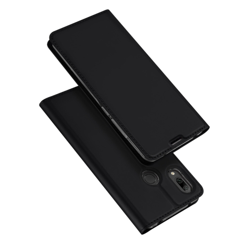 DUX DUCIS Skin Pro Series Horizontal Flip PU + TPU Leather Case for Huawei Y7 (2019), with Holder & Card Slots (Black)