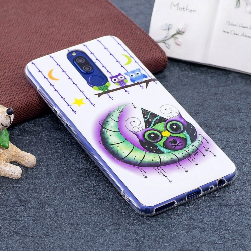 Buy Huawei Mate 10 Lite Noctilucent Moon and Owl Pattern TPU Soft Back Case Protective Cover for $1.41 in SUNSKY store