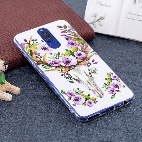 Huawei Mate 10 Lite Noctilucent Sika Deer Pattern TPU Soft Back Case Protective Cover