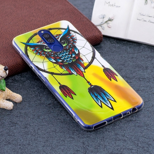 Buy Huawei Mate 10 Lite Noctilucent Windbell Owl Pattern TPU Soft Back Case Protective Cover for $1.41 in SUNSKY store