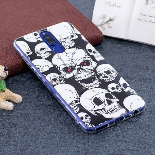 Buy Huawei Mate 10 Lite Noctilucent Red Eye Skull Pattern TPU Soft Back Case Protective Cover for $1.41 in SUNSKY store