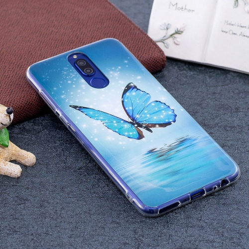 Buy Huawei Mate 10 Lite Noctilucent Butterfly Pattern TPU Soft Back Case Protective Cover for $1.41 in SUNSKY store