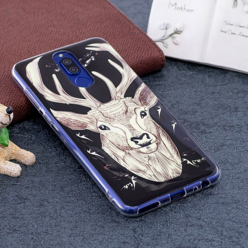 Buy Huawei Mate 10 Lite Noctilucent Deer Pattern TPU Soft Back Case Protective Cover for $1.41 in SUNSKY store
