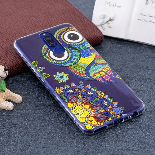 Buy Huawei Mate 10 Lite Noctilucent Ethnic Owl Pattern TPU Soft Back Case Protective Cover for $1.41 in SUNSKY store