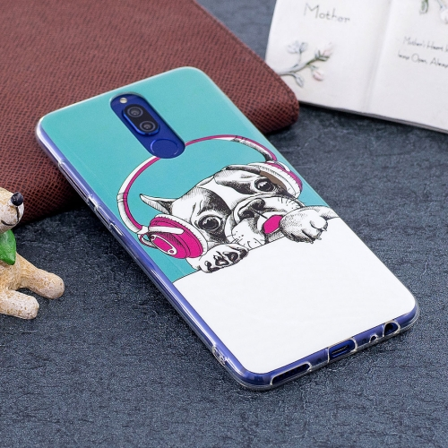 Buy Huawei Mate 10 Lite Noctilucent Headphone Dog Pattern TPU Soft Back Case Protective Cover for $1.41 in SUNSKY store