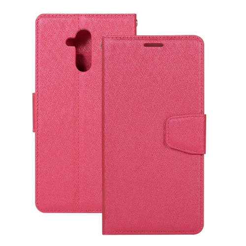 Silk Texture Horizontal Flip Leather Case for Huawei Mate 20 Lite, with Holder & Card slots & Wallet & Photo Frame(Magenta)