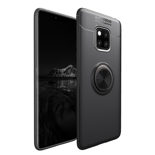 Shockproof TPU Case for Huawei Mate 20 Pro, with Holder (Black)