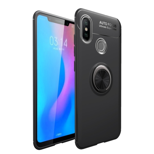 Shockproof TPU Case for Huawei Y9 2019 / Enjoy 9 Plus, with Holder (Black)
