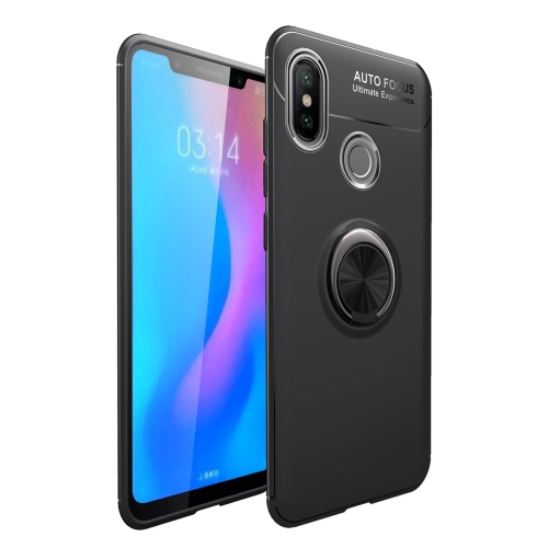 Shockproof TPU Case for Huawei Honor 8C, with Holder (Black)