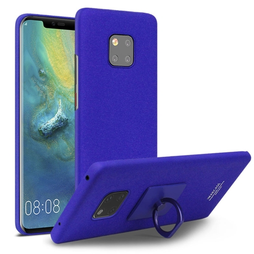 IMAK Matte Touch Cowboy PC Case for Huawei Mate 20 Pro, with Holder(Blue)
