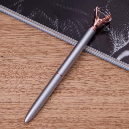 Buy 3 PCS School Stationery Office Supplies Crystal Ball Pens Ballpen Large Diamond Ballpoint Pens for $3.16 in SUNSKY store