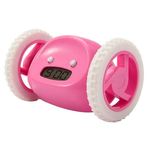 Magic Running Alarm Clock Creative Time Display Screen Alarm Clock(Pink) new durable adjustable usb gadget mini flexible led light usb fan time clock desktop clock cool gadget time display high quality
