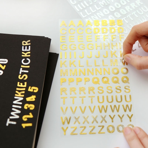 Buy 2PCS Bronzing Alphabet Stickers Digital Characters Letters Home Decoration English Diy Wall Stickers, Random Color Delivery for $1.17 in SUNSKY store