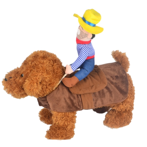 Buy Fun Cute Riding Horse Style Cotton Fabrics Pet Clothes for Dogs, Size: Small, 24cm x 26cm x 15cm for $8.73 in SUNSKY store