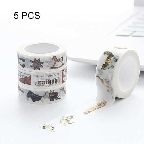 Buy 5 PCS Japanese Washi Tapes decorative Adhesive Tapes Can Tear Tape School Office Stationery,Random Color Delivery, Size: 15mm*8m for $2.90 in SUNSKY store