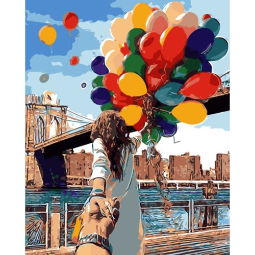 DIY Creative Paint By Numbers Oil Painting Romantic Balloon Art Painting without Framework, Size: 40*50 cm