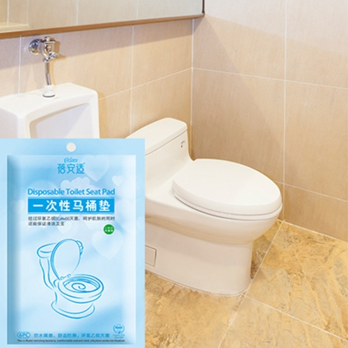 Buy 6 PCS Waterproof Anti-bacterium Travel Disposable Toilet Seat Cover Mat Toilet Paper Pad for $1.29 in SUNSKY store