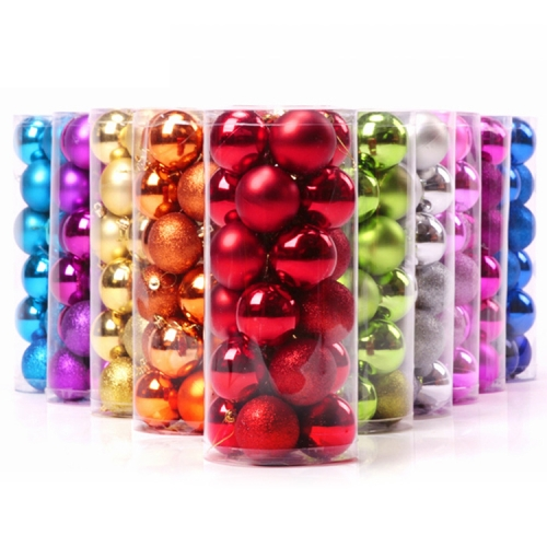 Buy 24 PCS 6cm Plating Plastic Christmas Tree Decorations Hanging String Ball, Random Color Delivery for $4.04 in SUNSKY store