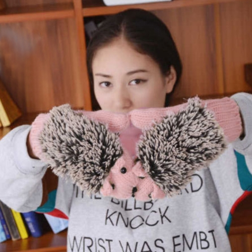 SUNSKY - Winter Lovely Cartoon Mouse Knitting Lady Mittens