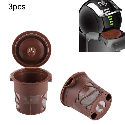 Buy 3 PCS Dolce Gusto Capsules Reusable Shell Nestle Capsule Filling Type Coffee Filter, Upper Diameter: 5.2cm, Bottom Diameter: 3.8cm, Random Color Delivery for $4.26 in SUNSKY store