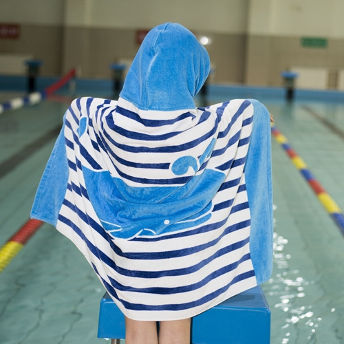 Buy Towel To Wear Hooded Cloak Bath Towel Absorbent Bathrobe Swim Clothes for Adult / Children, Size: 76x127cm for $9.61 in SUNSKY store