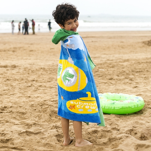 Buy Towel To Wear Hooded Cloak Bath Towel Absorbent Bathrobe Swim Clothes for Adult / Children, Size: 76x127cm for $9.93 in SUNSKY store