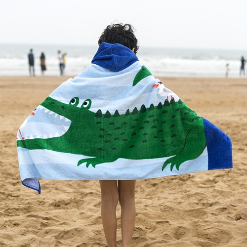 Buy Towel To Wear Hooded Cloak Bath Towel Absorbent Bathrobe Swim Clothes for Adult / Children, Size: 76x127cm for $9.87 in SUNSKY store