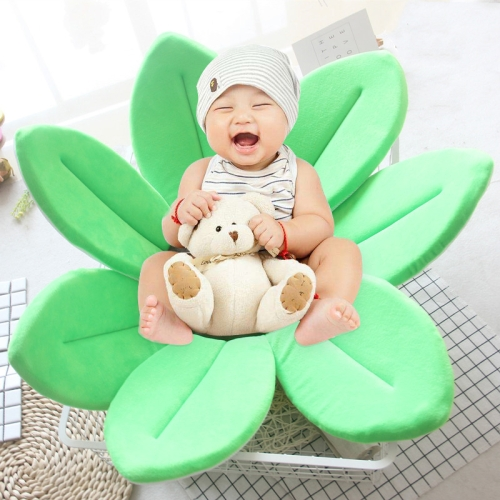 Buy Foldable Bathtub Blooming Sink Lotus Flower Bath Mat Pad for Newborn Baby, Size: 80cm x 80cm x 5cm, Green for $9.72 in SUNSKY store