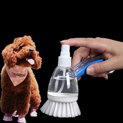 Buy Pet Bath Cleaning Brushes with Shampoo Container, Random Color Delivery for $5.45 in SUNSKY store